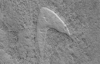 Mars'ta Star Trek logosu