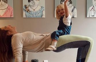 Müge Boz ile sevimli kızı Vina'nın spor keyfi