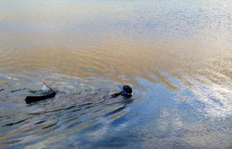Öğretim üyesi Türkiye'nin en yüksek göllerinden biri olan Aygır Gölüne serbest dalış yaptı
