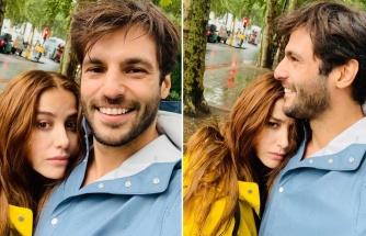 Özge Gürel'den sevgilisine romantik kutlama