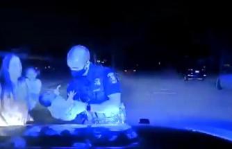 Polis memuru, 3 haftalık bebeği ölümden böyle kurtardı