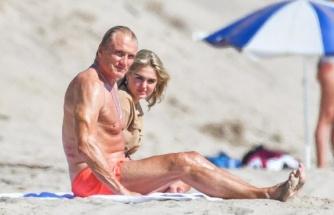 Rocky'nin yıldızı Dolp Lundgren, 38 yaş küçük nişanlısıyla tatilde
