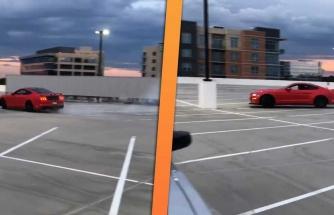 Şekil Şukul Yapacam Derken Güzelim Mustang'i Pert Eden Şoför