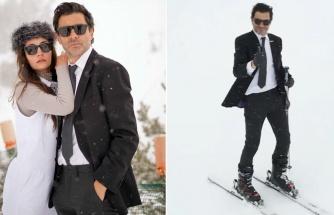 Takım elbiseyle kayak yapan Cansel Elçin'den 'Üşümediniz mi?' sorusuna yanıt