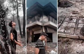 TikTok Fenomeni Cellat Yanan Bir Ev Arazisinde Çektiği Video ile Tepki Çekti