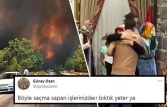 TRT, Antalya'daki Orman Yangınlarını Canlı Verirken Yayını Kesip PKK'lıların Aileleriyle Buluşmasını Yayınladı