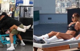 Türkiye tatilinde ayaklarını kıran Katie Price'a kötü haber! İyileşmesi iki yılı bulabilir