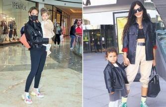 Ünlü anneler sevimli kızlarıyla AVM turu yaptı