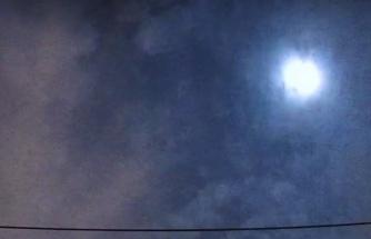 Uzay taşı, gökyüzünde böyle patladı