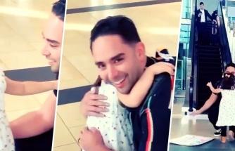 Uzun Süredir Görmediği Babasını Havalimanında Karşılamaya Giden Ufaklığın Duygusal Anları
