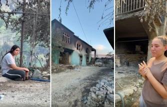 Yangında Evleri Yanan Genç Gözyaşları İçinde Anlattı: 10 Dakika Daha Geç Kalsaydık Dedem Babaannem Yanabilirdi