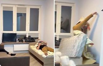 Yatağın Altına Yerleştirilen Hava Yastıklarının Patlaması ile Neye Uğradıklarını Şaşıran İnsanlar
