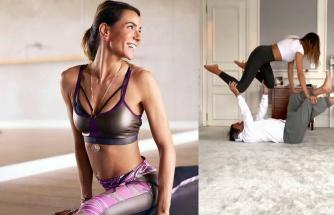 Zeynep Tokuş ve eşinin yoga serüveni sürüyor