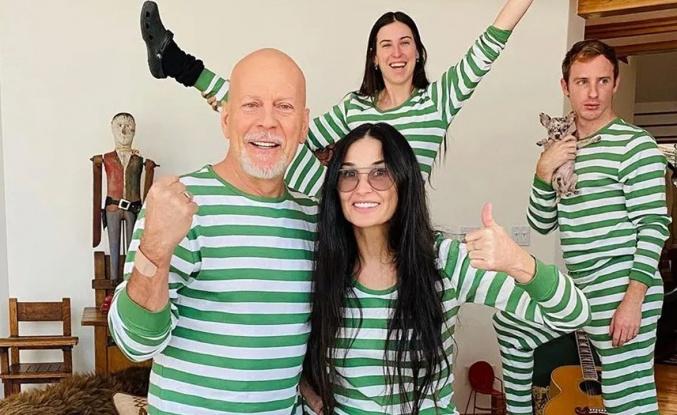 Bruce Willis ile Demi Moore'dan eğlenceli karantina