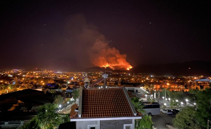 Muğla Fethiye'de Orman Yangını Başladı!
