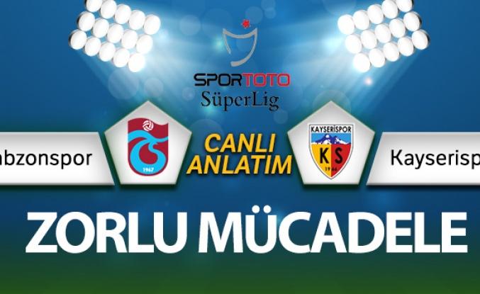 Trabzonspor - Kayserispor maçı CANLI ANLATIM