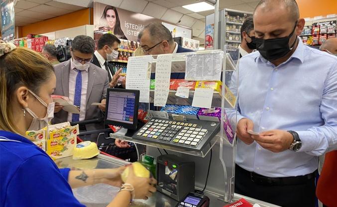 Üsküdar'da marketlere 'fahiş fiyat' denetimi
